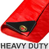 10'x 12' Heavy Duty Premium Red Tarp 12 Mil Thickness