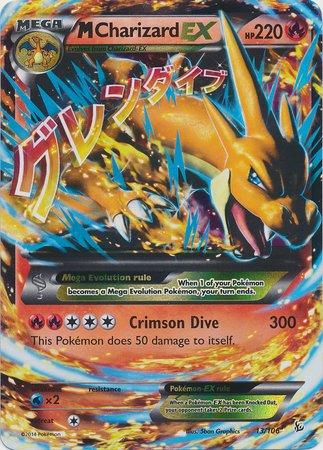 - Mega/M Charizard EX (XY Flashfire #13/106) Rare/Holo-Foil Pokemon Card