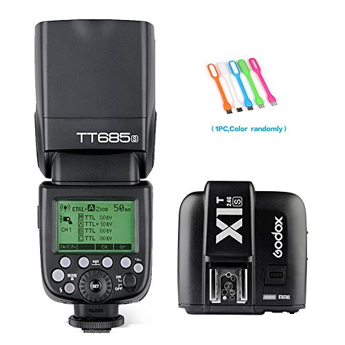 Godox Thinklite TT685S TTL High Speed 1/8000s GN60 Camera Flash speedlite + X1S Wireless Trigger for Sony DSLR Cameras + HuiHuang USB LED Free gift by Godox