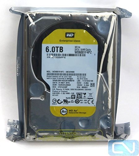 WD Ae 6TB Hard Drive for Backup Storage - 3.5'' HD, SATA 6 Gbps, 64MB Cache - WD6001F4PZ by Western Digital
