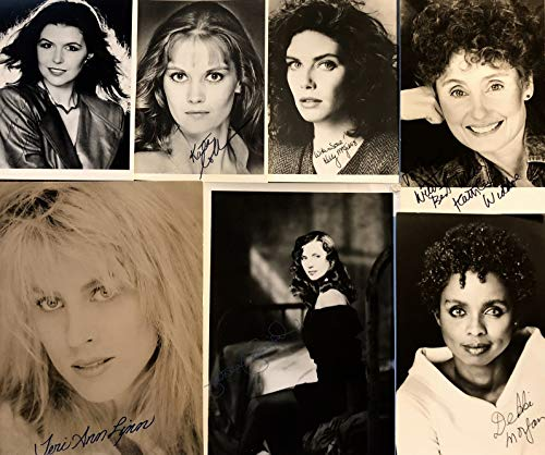 Vintage Actresses TV Soap Stars lot 16 Total 8 SIGNED Photos Anne Jackson Kathleen Widdoe Victoria Principal others