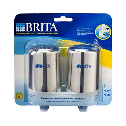 Brita On Tap Replacement Filters, 4-Pack, Chrome by Brita