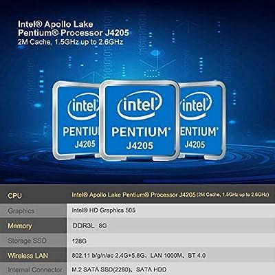 Beelink J45 Mini PC con CPU Intel Apollo Lake Pentium J4205, 8GB ...