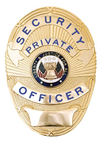 Security Private Officer Gold Shield - Security Gold Badge