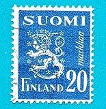 Finland Used Postage Stamp (1950) 20m Lion Rampart Scott # 296