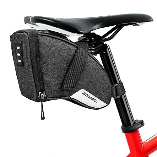 (Number-One 1.5L Bicycle Strap-On Saddle Bag Bike Seat Pack Wedge Pack Under Seat Bag for Cycling)