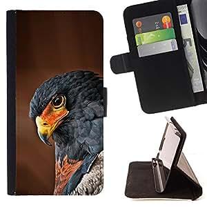 - hawk bird tropical feather brown nature - - Prima caja de la PU billetera de cuero con ranuras para tarjetas, efectivo desmontable correa para l Funny HouseFOR LG OPTIMUS L90