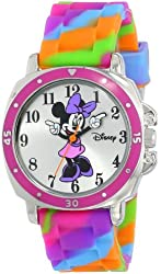Disney Kids' MN1104 Watch with Tie Dye Rubber Band
