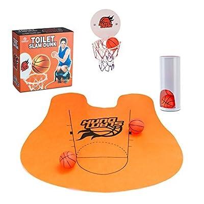 leeploop Bathroom Basketball   Slam Dunk Toilet Basketball Set   Toilet Basketball Game   Fun Potty Time   Hilarious Gift Ideas: Toys & Games