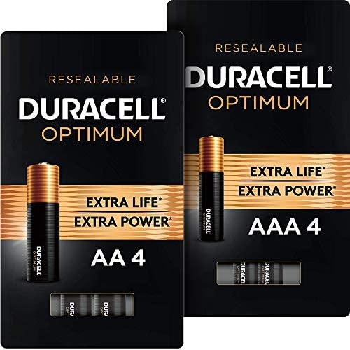 Duracell Optimum AA + AAA Batteries | 4 Count | Long Lasting Double A & Triple A Battery | Alkaline Battery