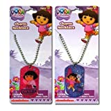 2pk Dora The Explorer Dogtag Necklace 18""