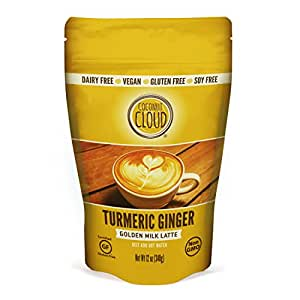 Coconut Cloud: Dairy-Free Turmeric Ginger Golden Milk Latte | Delicious & Creamy, made with Coconut Milk Powder, Vegan, Gluten and Soy Free, Non-GMO (As a Drink or use in Smoothies & Recipes), 12 oz