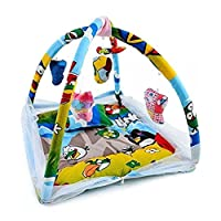 Home Crust Baby Bedding Set Playmat New Bornbaby Kids Bed with Mosquito Net (Blue, 9876)