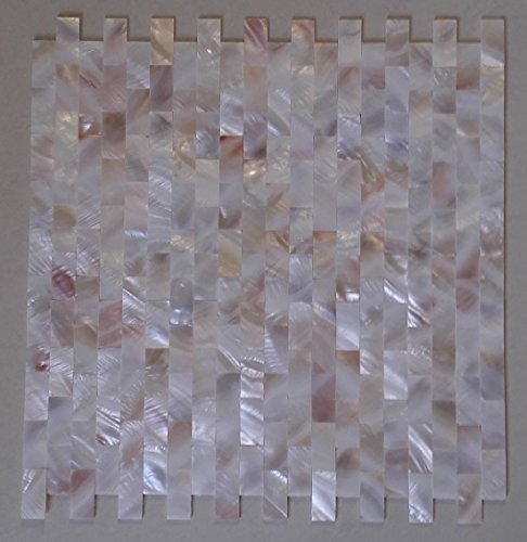 Pink Shell Mosaic (11square feet Groutless brick mother of pearl shell mosaic tile pink yellow kitchen backsplash bathroom decoration background wall floor)