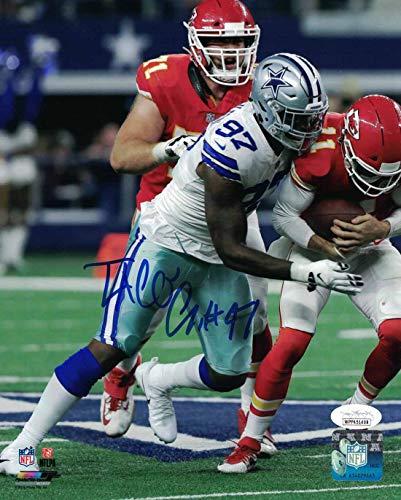 Taco Charlton Autographed/Signed Dallas Cowboys 8x10 Photo JSA