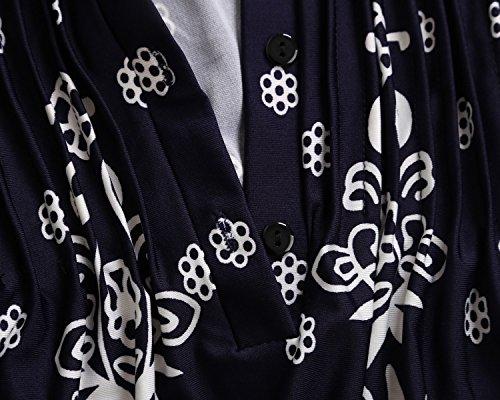 a blu donna Dokotoo tunica a 4 maniche sportiva 3 scuro da Camicia qqvOwYB