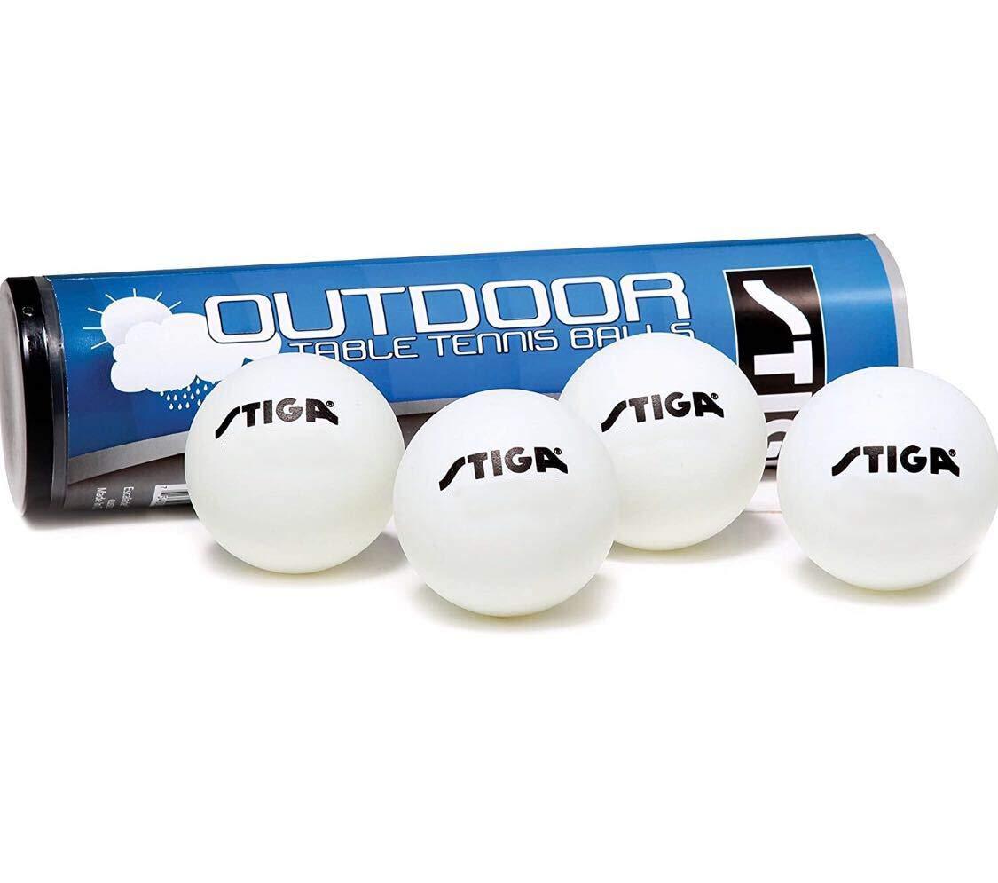 4 Pelotas de Ping Pong STIGA para Exterior