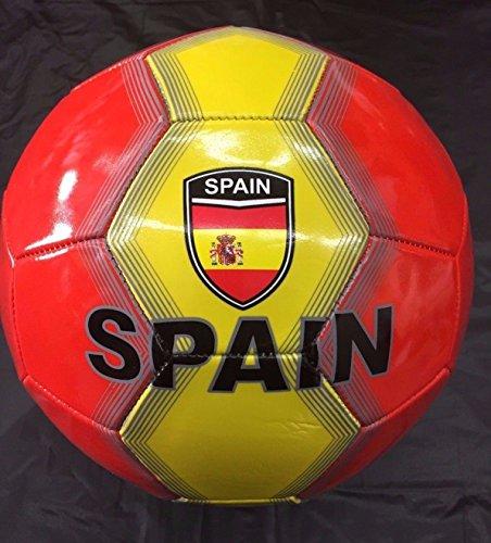 Spain Flag Soccer Ball Football Size-5 Panel 32