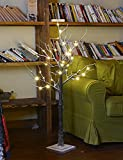 Lightshare 4 Feet Snow Dusted Tree, 48 LED Lights, Warm White, For Holiday Decorations