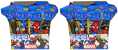Pez Candy Packs (Marvel with Guardians of The Galaxy PEZ Candy Dispensers Party Favors (Pack of 24))