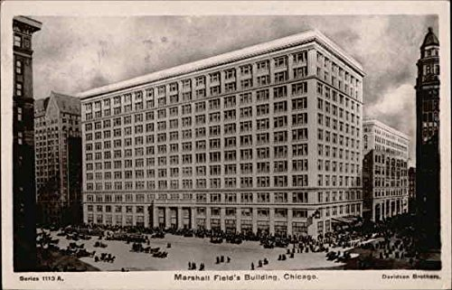 marshall-fields-building-chicago-illinois-original-vintage-postcard