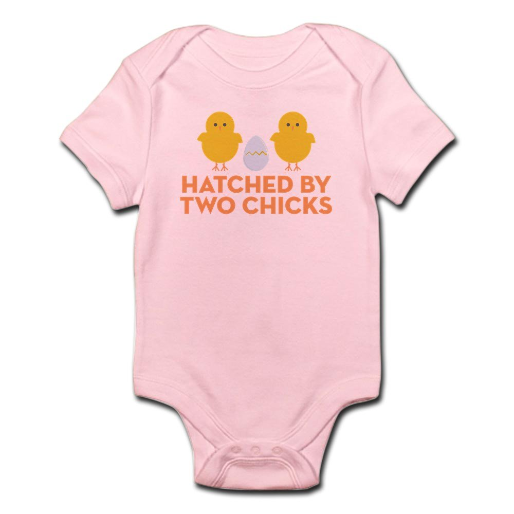 CafePress - Hatched By Two Chicks - Cute Infant Bodysuit Baby Romper