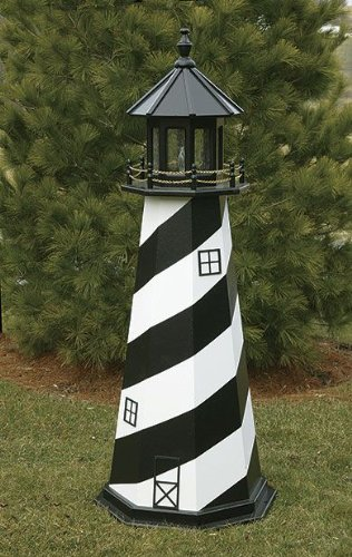 Amish Made Wooden Outdoor Cape Hatteras Lighthouse - ()