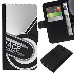 All Phone Most Case / Oferta Especial Cáscara Funda de cuero Monedero Cubierta de proteccion Caso / Wallet Case for Sony Xperia M2 // Race Abstract