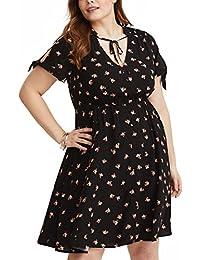 Women's Plus Size Dresses Floral Cool Summer Beach Dress...
