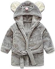 Anna&Judy Little Girl's Flannel Warm Bathrobe Unisex Kids Robe Pajamas S