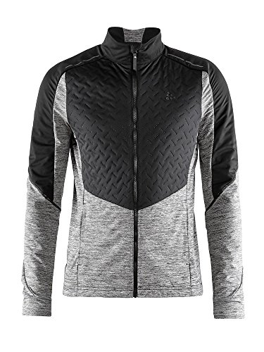 - Craft Sportswear Mens Fusion Nordic Cross Country Ski Quilted Windproof Lightweight Jacket, Black/Dark Grey Melange, Medium