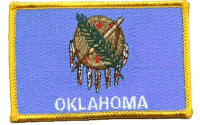 Oklahoma iron-on embroidered patch