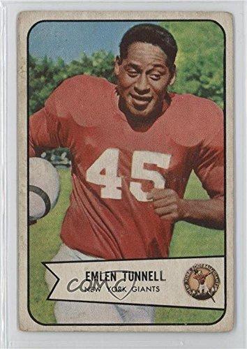 Emlen Tunnell Ungraded COMC Good to VG-EX (Football Card) 1954 Bowman - [Base] - 1954 Cards Football