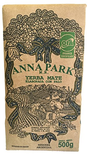 "Anna Park Yerba Mate - Organic - 1.1 LB / 500 g / 17.6 oz 3 A TRADITIONAL TEA: Yerba Mate has been used for centuries in South America as a natural stimulant to support mental clarity and focus. Described as offering ""the strength of coffee, benefits of tea, and the euphoria of chocolate"". Anna Park Yerba Mate is a powerful and all natural, appetite curbing tea that provides energy, improves digestion and boosts your immune system. HIGHEST QUALITY AND PURITY: Our Yerba Mate is certified 100% organic, naturally gluten free and vegan without any artificial flavors or colors. Sustainably farmed, sourced from Argentina and naturally caffeinated. This exquisite Yerba Mate is produced over 3 years, protecting ecological reserve and environment. VITAMIN & MINERALS PACKED: Anna Park Yerba Mate is rich in vitamins A, C, E, B1, B2, B3, B5, and B Complex. Also contains Calcium, Manganese, Iron, Selenium, Potassium, Magnesium, Silicon, Phosphorus. 15 Amino Acids, Fatty Acids, Chlorophyll, Flavonoids, Polyphenols, and traces minerals."