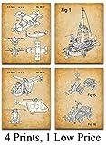 Lego Transportation Art Prints - Set of Four Prints (8x10) Unframed - Great Child's Bedroom Decor