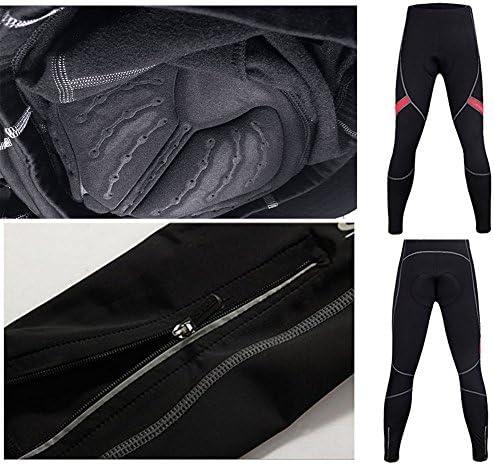 Tobaling Homme Collant de Compression Thermique Legging de Sport avec 4D Respirant Coussin S/échage Rapide Elastique pour Cyclisme Fitness Course