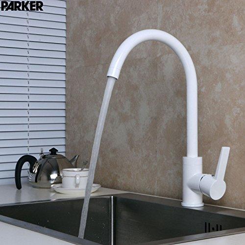 Bijjaladeva Antique Kitchen Sink Mixer Tap All Copper White Enamel Kitchen Sink Faucet Black Matte White Kitchen Faucet White Enamel Sink Cold Water Faucet White