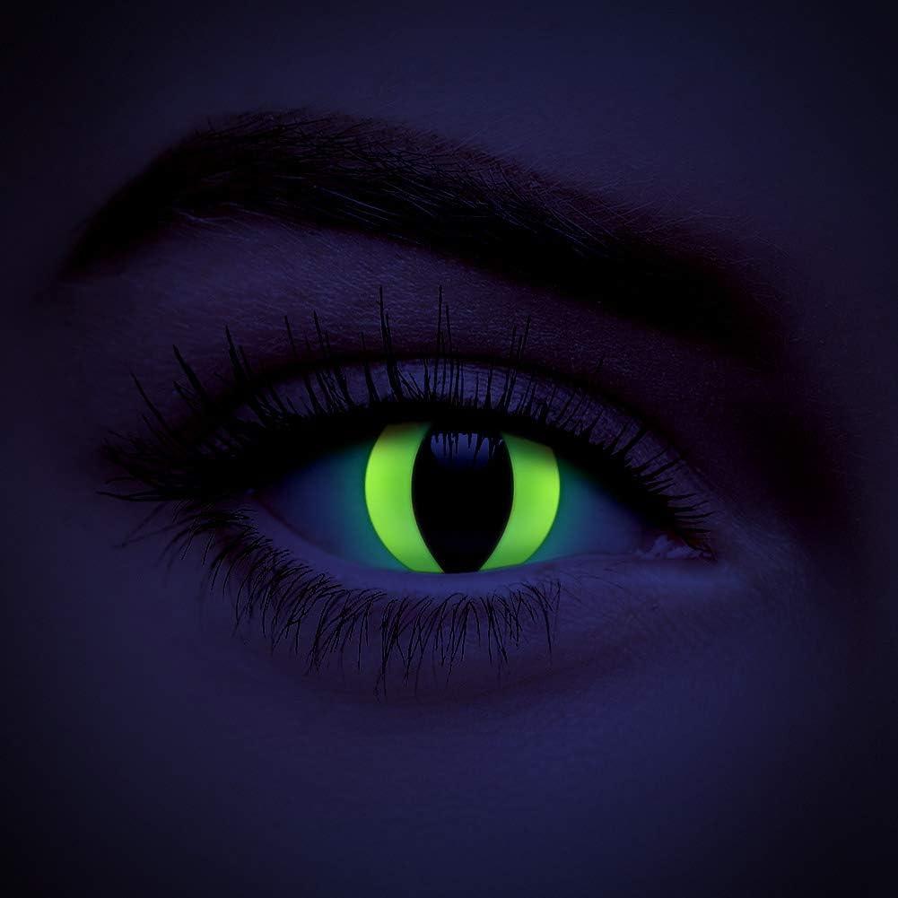 chromaview Lentillas De Color UV I-Glow Gato Amarillo De 1 Día - Sin Graduación