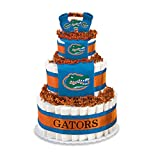 Collegiate Diaper Cakes - Baby Gifts for the Sports Fan--College Themed Diaper Cakes Featuring Your School Logo (Deluxe, Florida)