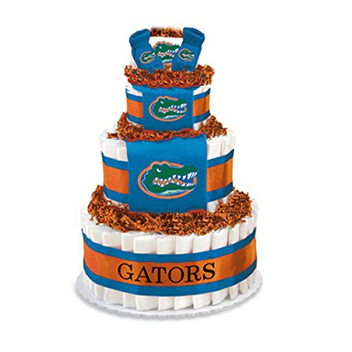 Collegiate Diaper Cakes - Baby Gifts for the Sports Fan--College Themed Diaper Cakes Featuring Your School Logo (Deluxe, Florida) by Collegiate Diaper Cakes
