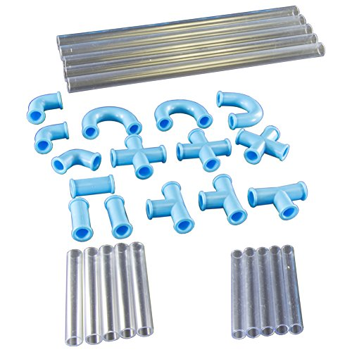 Electronix Express DIY Straws - Construct Your Own Crazy Drinking Straw - 30 Piece Kit (Connector Swirl)