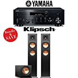 Yamaha R-N803BL Network Stereo A/V Receiver + Klipsch RP-250F + Klipsch R-112SW - 2.1-Ch Home Theater Package