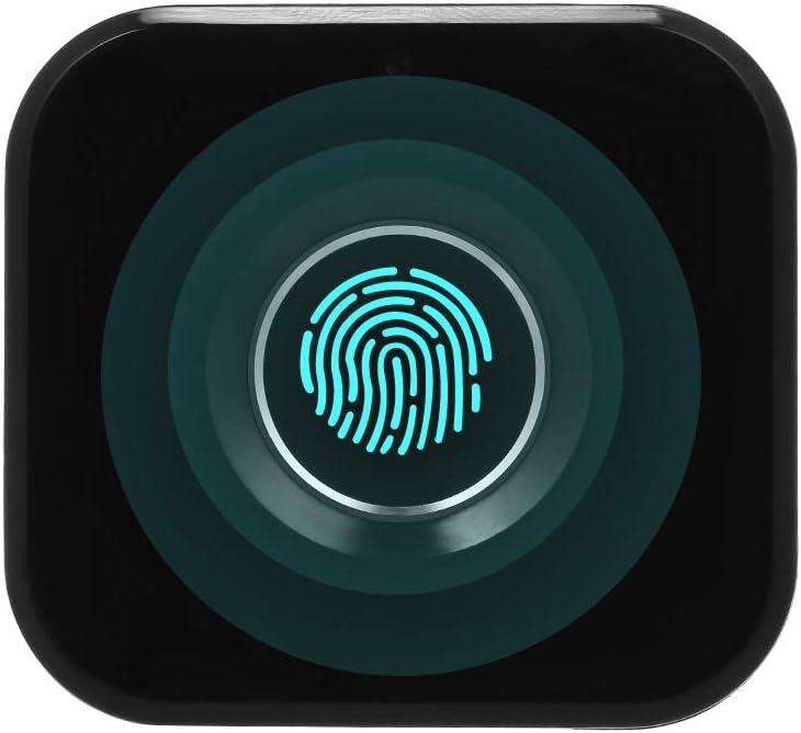 OWSOO Cerradura Inteligente Sin Llave, Cerradura Electrónica Biométrica, Mini Cerradura de Cajón Portátil, para Cajón, Archivador