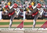 #10: Shohei Ohtani 2018 Topps Now #23 Baseball Rookie Card Lot of 2 - English Version and Japanese Version