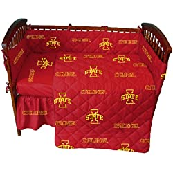 Iowa State 5 Pc Baby Crib Logo Bedding Set
