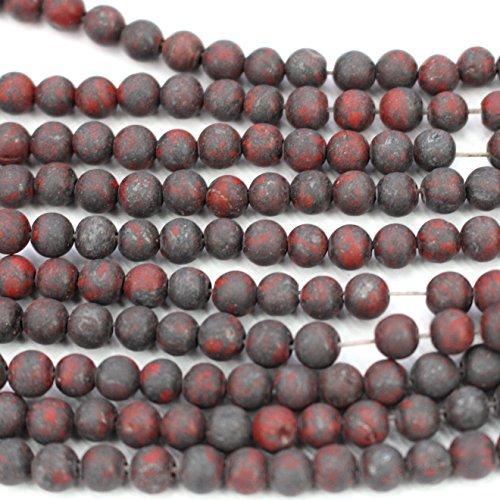 Brecciated Jasper Gemstone - Kambaba Natural Color Brecciated Jasper Round Gemstones Loose Beads Findings For DIY Jewerlry Making (Matte 8mm)