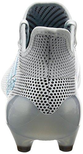 adidas X 17.1 FG, Scarpe da Calcio Uomo Bianco (Footwear White/Energy Blue/Clear Grey)