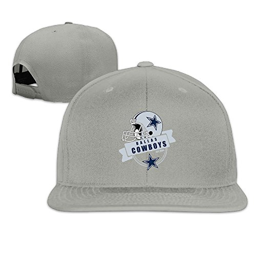 LINNA Custom Unisex-Adult Dallas Sport Football Logo Adjustable Baseball CapHat Ash
