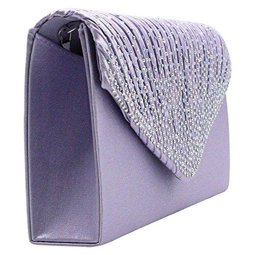 Fashion Diamante New Party Wiwsi red Envelope Lady Satin Bag Clutch Shiny Handbag 6RxdqOnwg