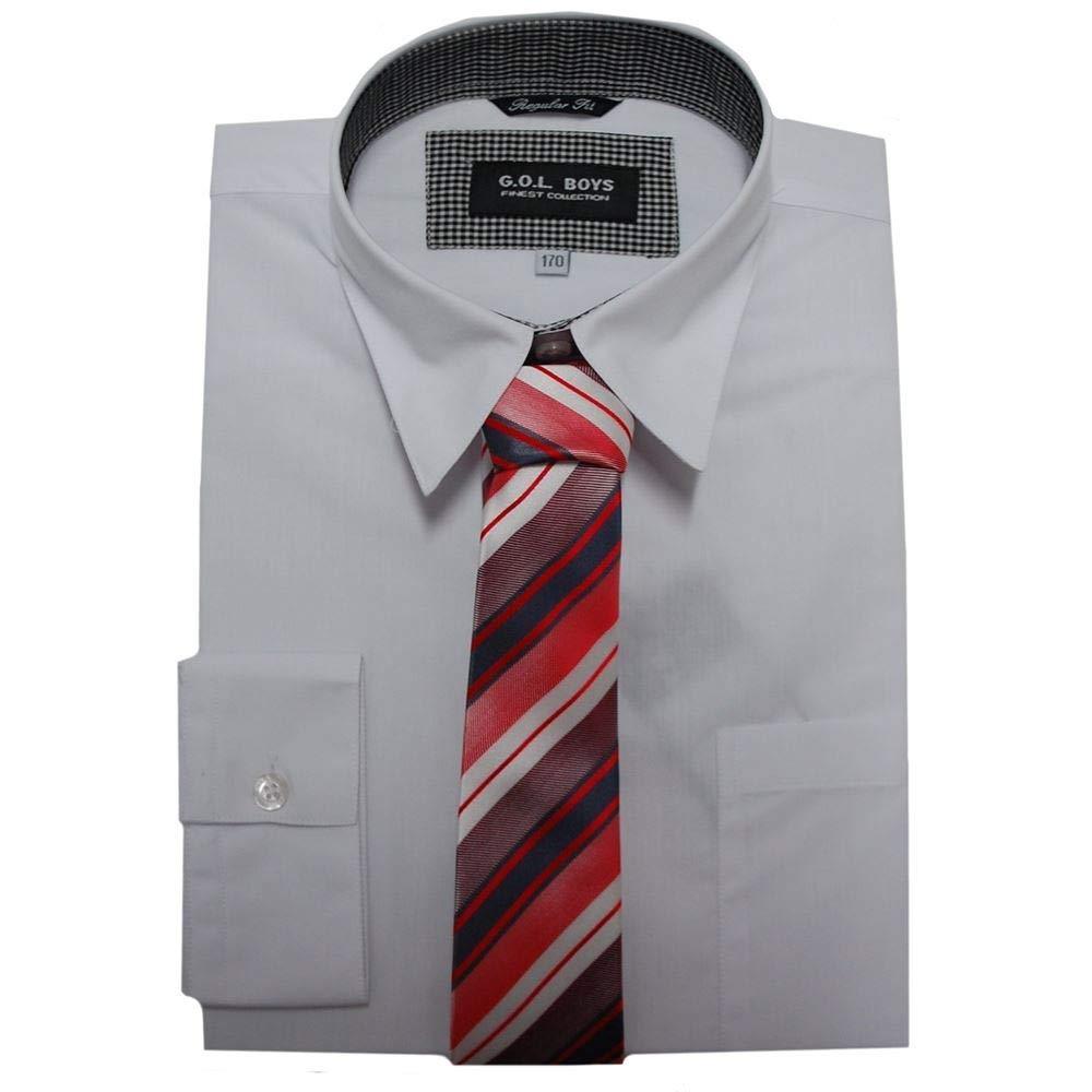 - Jungen Festliches Hemd Langarm Hemd ohne Krawatte Gr/ö/ße 170 G.O.L hellblau